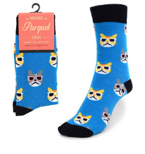 Load image into Gallery viewer, Parquet Ladies Cool Cats Novelty Crew Socks