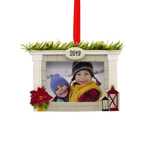 Hallmark Cozy Fireplace 2019 Photo Frame Ornament