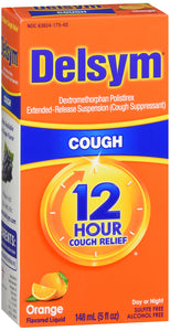 DELSYM 12 HOUR COUGH RELIEF ORANGE 5OZ