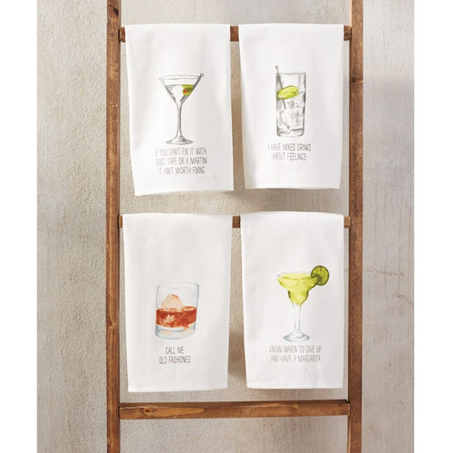 MUDPIE DRINK SENTIMENT HAND TOWEL