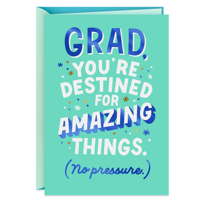 HALLMARK DESTINED FOR AMAZING THING GRADUATION CARD