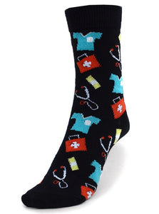 Parquet Ladies Doctor/Nurse Novelty Crew Socks