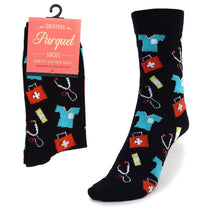Load image into Gallery viewer, Parquet Ladies Doctor/Nurse Novelty Crew Socks
