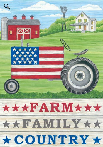 CUSTOM DECOR FARM FAMILY COUNTRY HOUSE FLAG