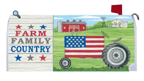 CUSTOM DECOR FARM FAMILY COUNTRY MAILBOX COVER