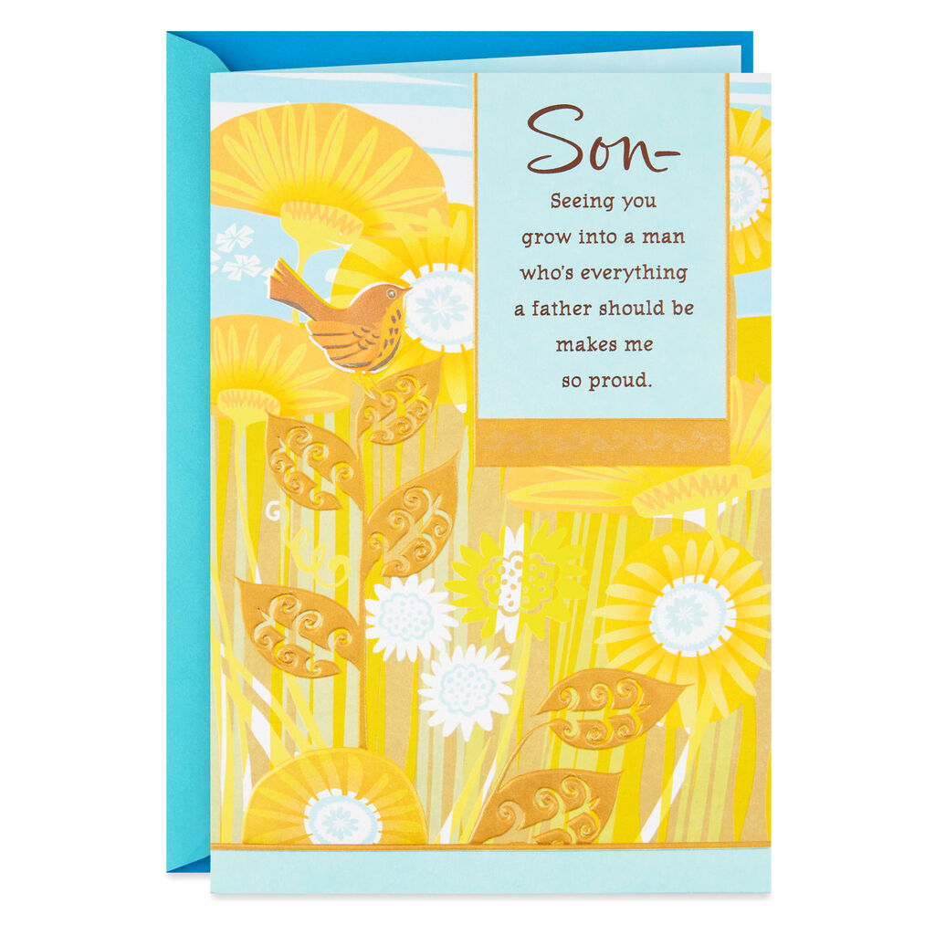 HALLMARK YELLOW FIELD OF SUNFLOWERS FATHER'S DAY CARD