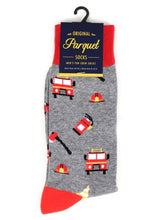 Load image into Gallery viewer, Parquet Men's Firefighter Novelty Socks
