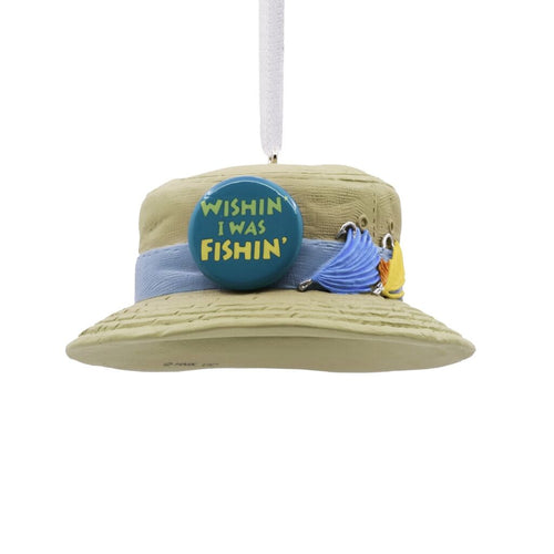 Hallmark Fishing Hat Ornament