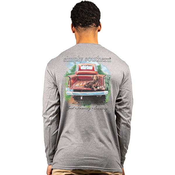 SIMPLY SOUTHERN COLLECTION LONG SLEEVE - YOUTH CHOCOLAB