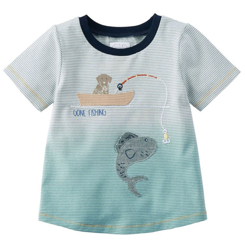 Mud Pie Toddler Gone Fishing T-Shirt