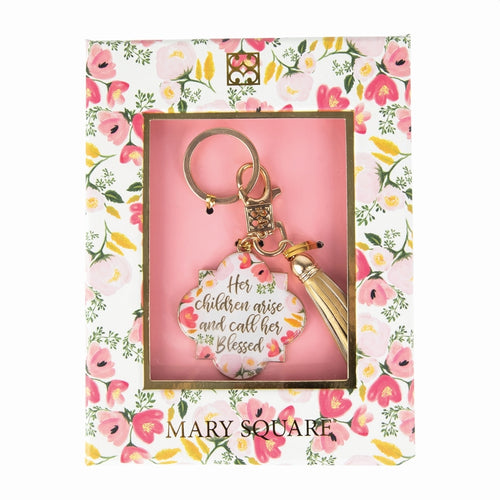 MARY SQUARE HER CHILDREN ARISE BOXED KEYCHAIN