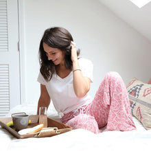 Load image into Gallery viewer, HELLO MELLO SWEET ESCAPE LOUNGE PANTS - BREAKFAST IN BED