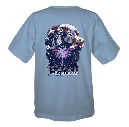 Painted Lake Murray Boykin T-shirt - Ice Blue
