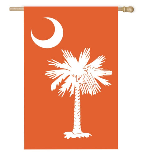 EVERGREEN SC PALMETTO ORANGE HOUSE FLAG