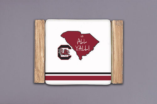Magnolia Lane USC Striped Coaster Set