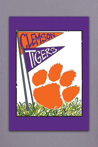 Magnolia Lane Clemson University Tigers House Flag