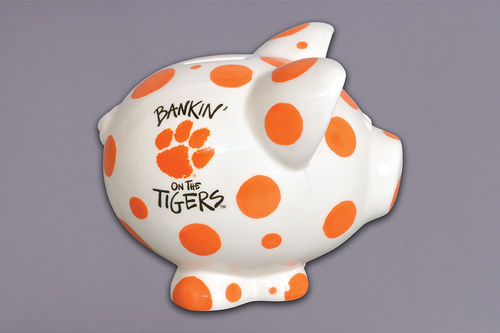 Magnolia Lane Clemson Piggy Bank