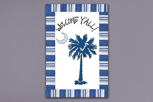 Magnolia Lane Palmetto Garden Flag