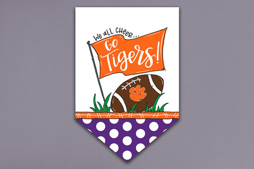 Magnolia Lane Clemson University We All Cheer Garden Flag