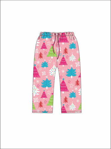 Jane Marie Christmas Tree Pink Pajama Pants