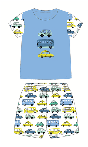 Jane Marie Kids Car Jammie Short Set