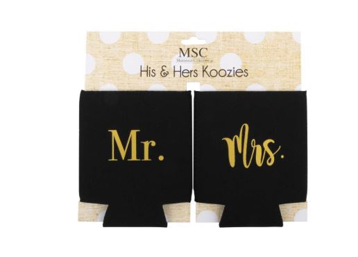 MAINSTREET COLLECTION MR AND MRS KOOZIE SET
