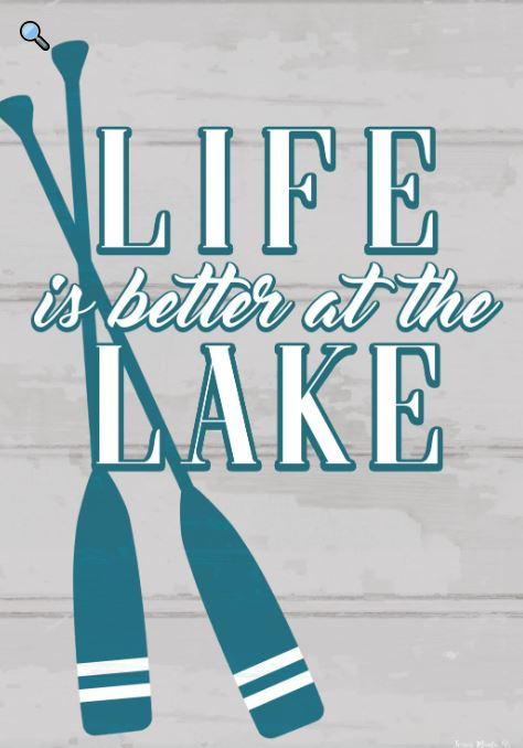 CUSTOM DECOR LIFE AT THE LAKE GARDEN FLAG