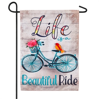 EVERGREEN LIFE IS A BEAUTIFUL RIDE GARDEN FLAG