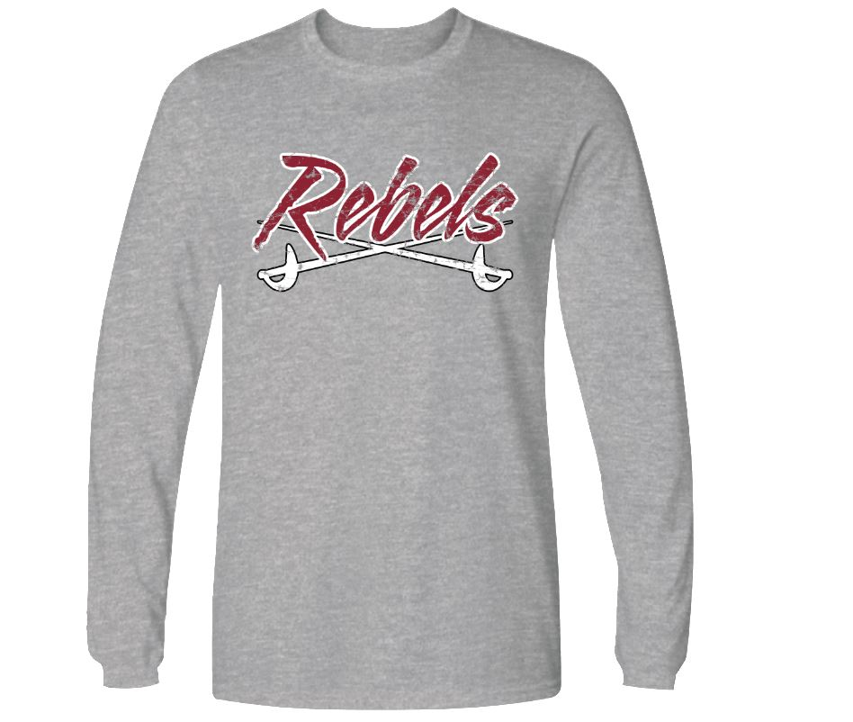 MID - CAROLINA REBELS LOGO LONG SLEEVE T-SHIRT