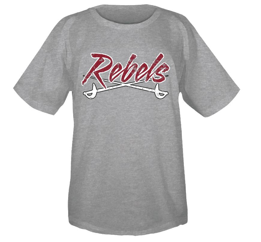 MID -CAROLINA REBELS LOGO SHORT SLEEVE T-SHIRT