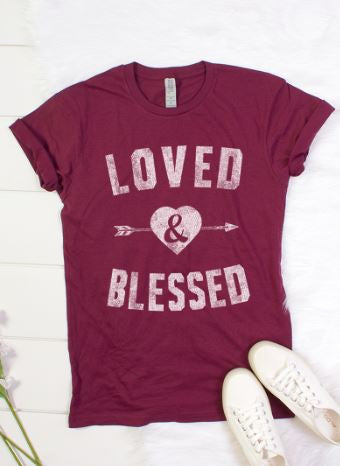 BELLA CLOSET LOVED AND BLESSED T-SHIRT