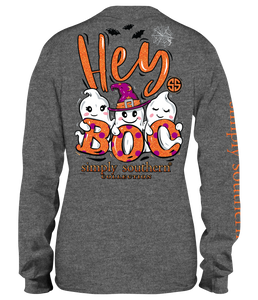 Simply Southern Collection Youth Hey Boo Long Sleeve T-shirt