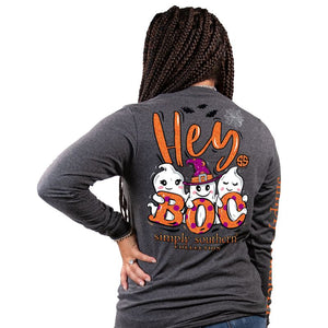 Simply Southern Collection Hey Boo Long Sleeve T-shirt
