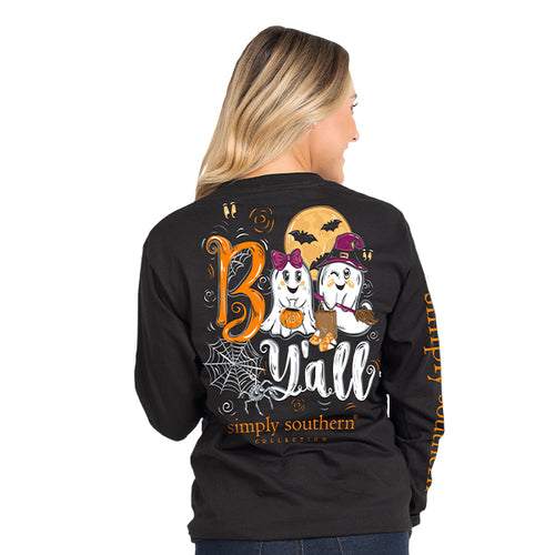Simply Southern Collection Boo Y'all Long Sleeve T-shirt