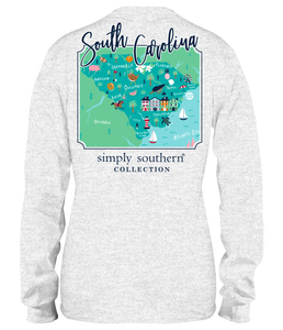 Simply Southern Collection South Carolina Long Sleeve T-shirt