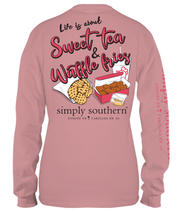 Simply Southern Collection Youth Sweet Tea & Waffle Fries Long Sleeve