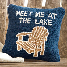 Load image into Gallery viewer, Mud Pie Lake Chair Hooked Pillow