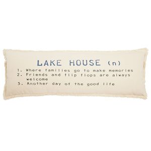 Mud Pie Lake House Definition Pillow