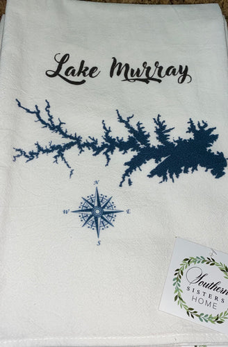 Southern Sisters Home Lake Map Towel