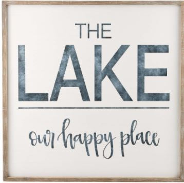 Glory Haus Lake is Our Happy Place Board