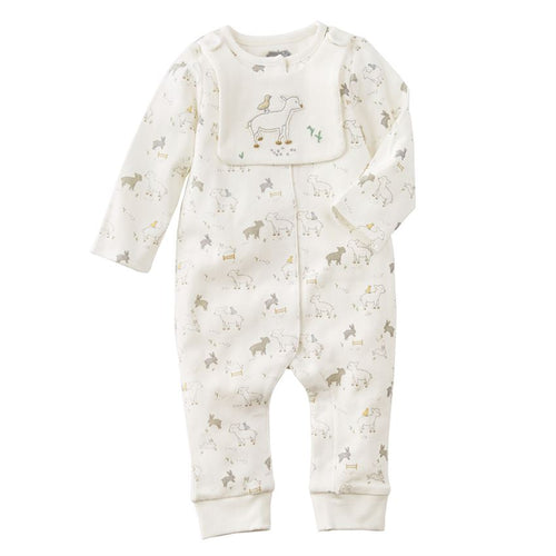 Mud Pie Lamb Sleeper & Bib Set