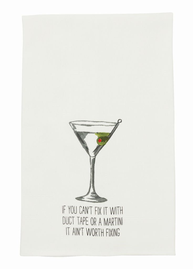 MUD PIE DRINK SENTIMENT HAND TOWEL