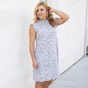 MARY SQUARE MICHELLE GRAY DRESS