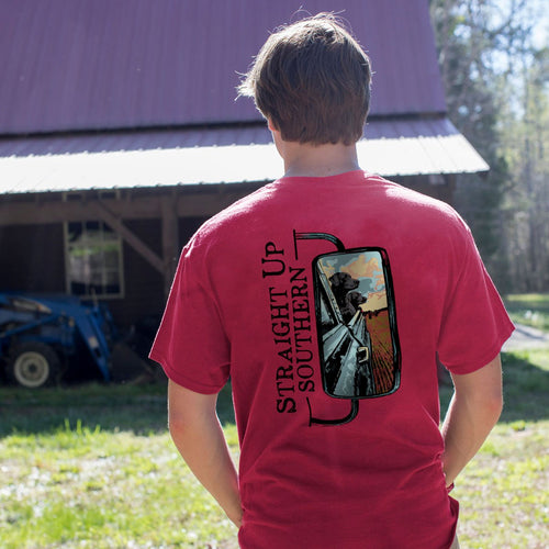 STRAIGHT UP SOUTHERN MIRROR DOGS SHORT SLEEVE T-SHIRT
