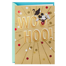 Load image into Gallery viewer, HALLMARK MICKEY MOUSE WOO HOO! GRADUATION CARD