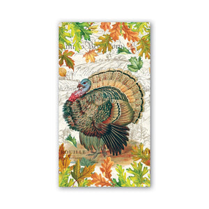 Michel Design Works Fall Turkey Harvest Hostess Napkins