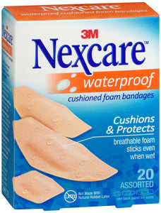 NEXCARE WATERPROOF CUSHION BANDAGE 20 COUNT