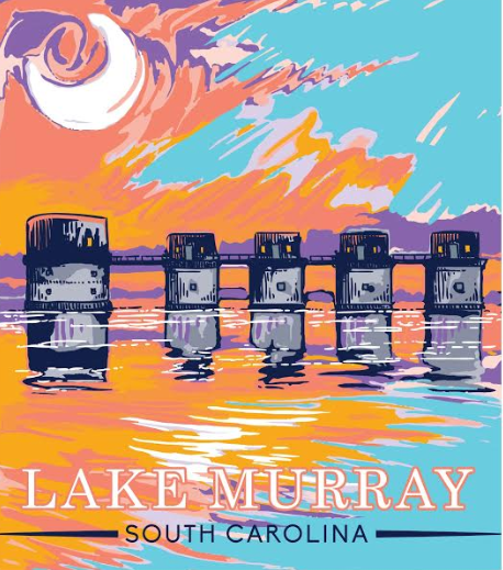 Painted Lake Murray Sticker