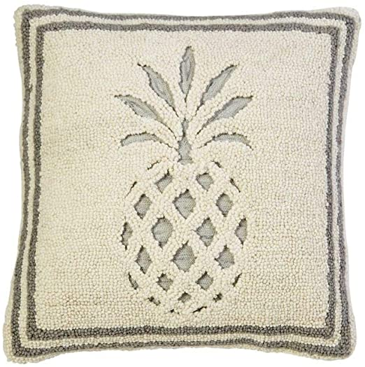 Mud Pie Pineapple Hooked Pillow