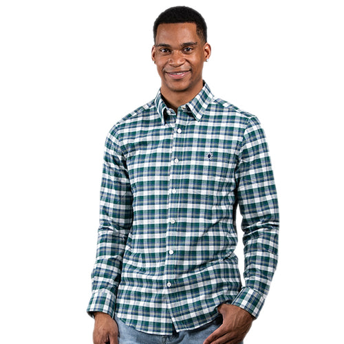 SIMPLY SOUTHERN COLLECTION MEN'S PARKER BUTTONUP - GREEN